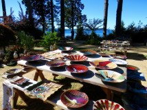 Outdoor Orcas Island pottery gallery