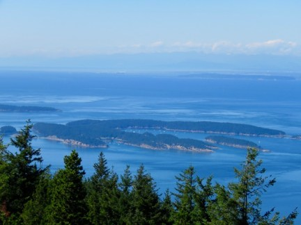 Sucia, from Mt. Constitution on Orcas