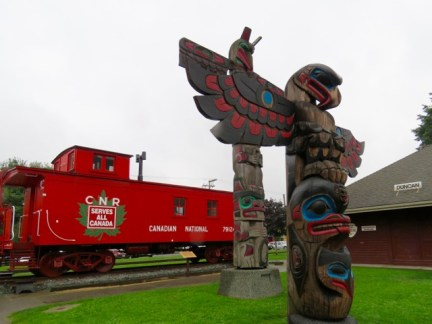 Totems in Duncan