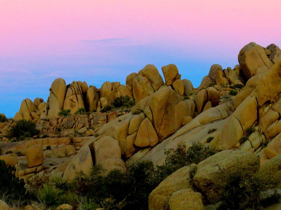 Sunset in Joshua Tree National Park, California