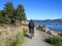 Biking along Nehalem Bay