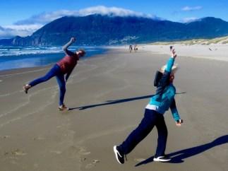 Amanda and Findlay on the beach