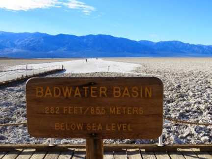 Badwater Basin, the lowest point in North America