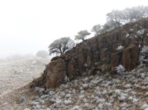 A magical winter landscape in Davis Mountains State Park