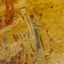 Close up of the White Shaman pictograph