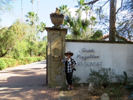 The entrance to Quinta Mazatlan