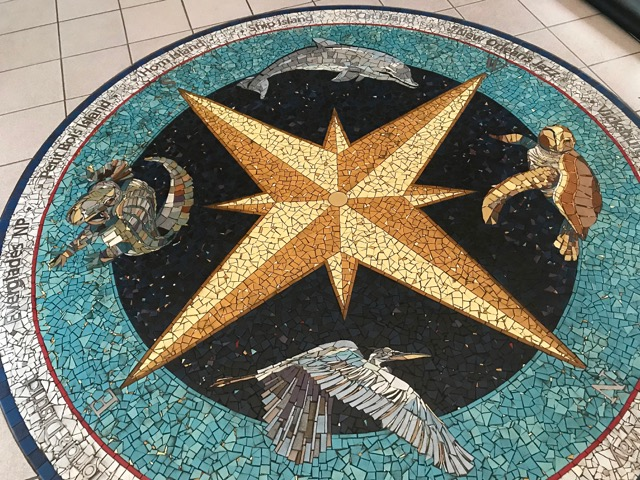 Cool mosaic floor in the Visitor Center