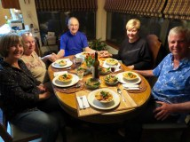 Family dinner with Rick and Karren
