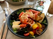 Nicoise Salad with salmon at Collins Quarter