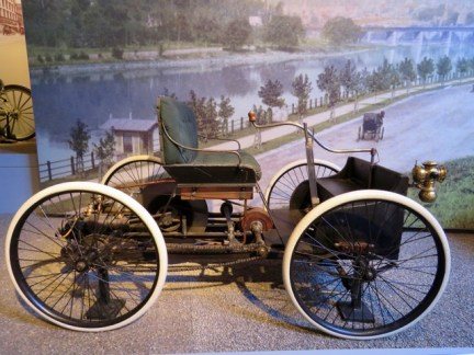 Henry Ford's first car, an 1896 Ford Quadricycle