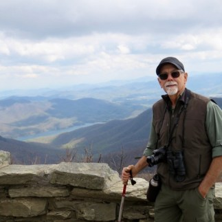 At the top of the Craggy Pinnacles Trail