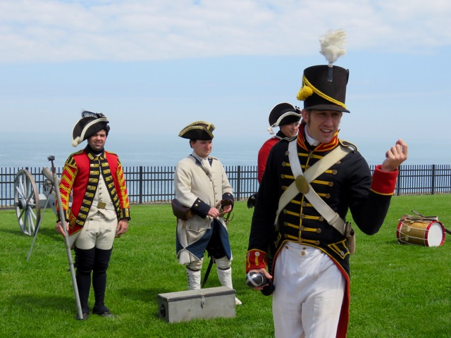 Preparing for the cannon firing
