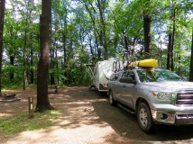 Campsite at Watkins Glen State Park