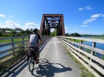 Crossing the Waugh River Bridge