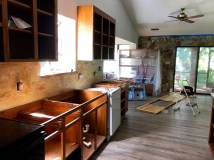 Refinishing kitchen cabinets and preparing for new countertops