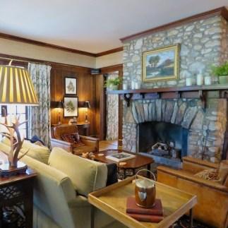 Inside the cozy Greystone Inn