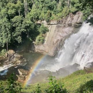 Finding a rainbow at Rainbow Falls