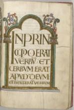 Illuminated page from Gospel of John