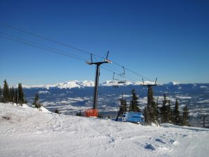 Hudson Bay Mountain Ski area overlooking the Bulkley Valley