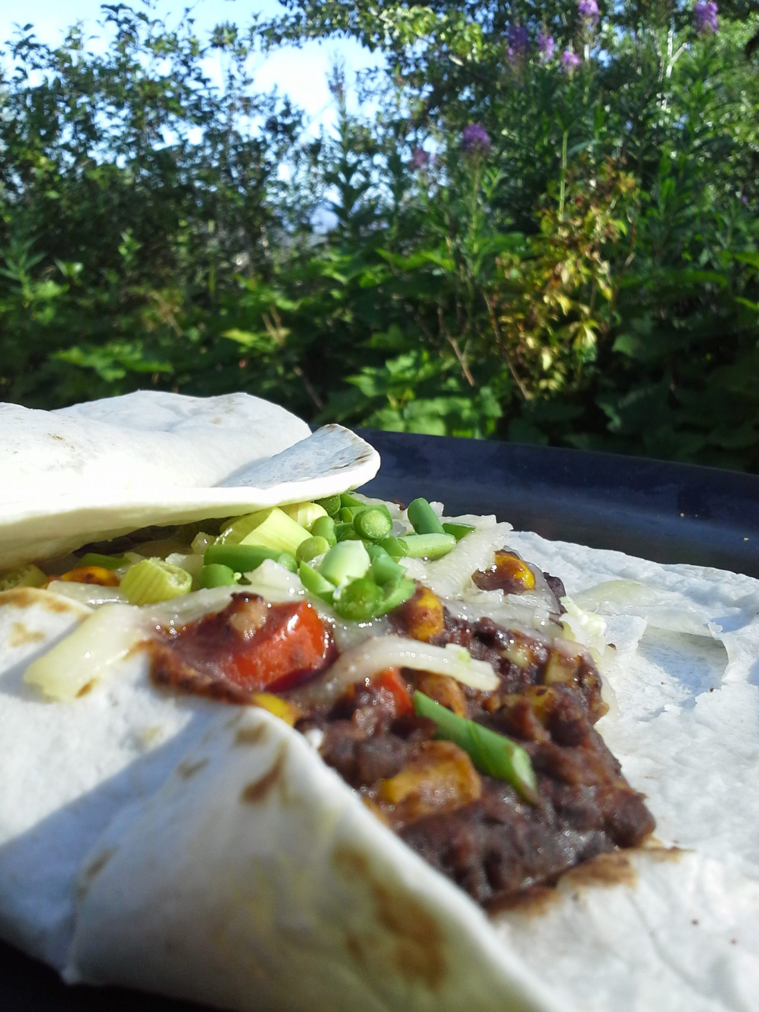 Black Bean Burritos for Backpacking, Boating, and Bivouacking