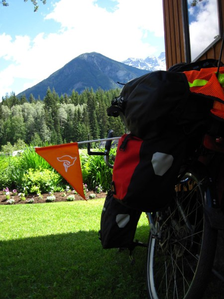 I picked up Welican-the-Pelican in Prince George, British Columbia, not long after we left home. Here he is in Mount Robson Provincial Park, just a few days before the first day of summer.
