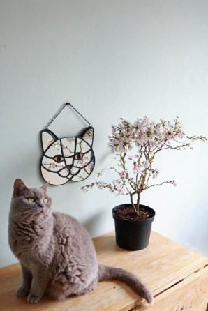 (Sold: Eindhoven,Netherlands) Geometric Cat Mirror