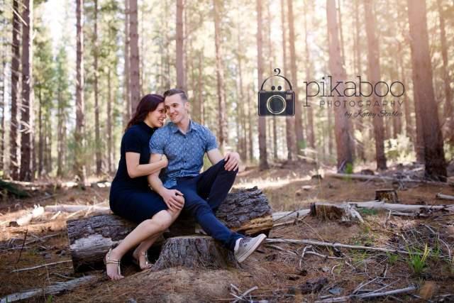 Engagement pose sitting log