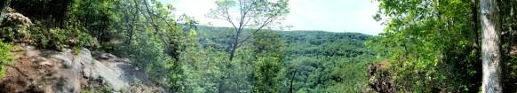 Panorama looking east off of Raven Rocks overlook in summer 2014.