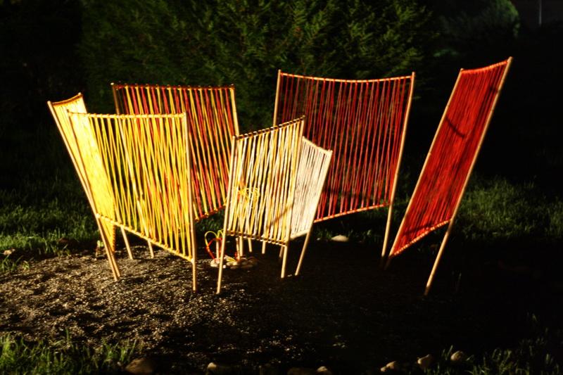 Skulpturengarten Kunstnacht (2010) Farbige Spirale: Carola Weber-Schlak