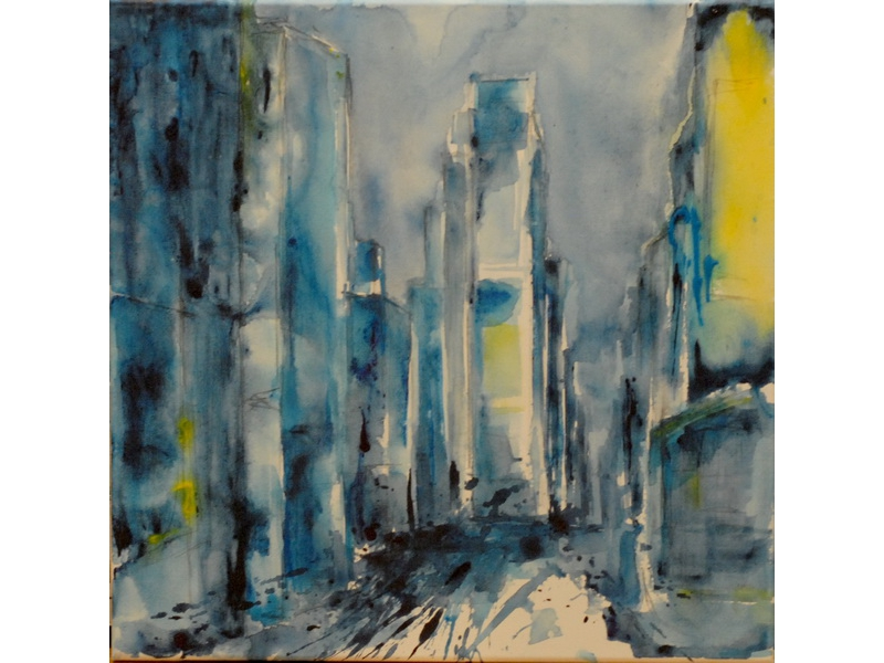 Christine Kostelezky: Times Square Blue I