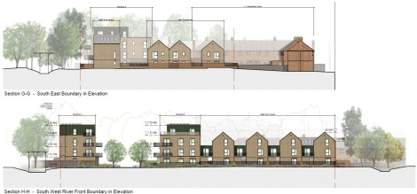 Ravensbury Garages - proposed sections B