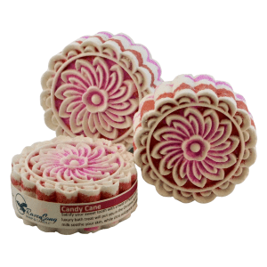 Candy Cane Ribbons Moon Cakes