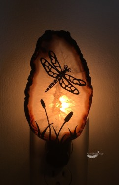 Dragonfly Agate Slice Night Light