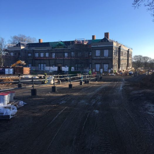 Getting a good sense of the scale of the new Ravenswick Hall now