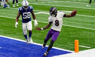 Ravens highlights: Lamar Jackson finds wide-open lane to TD vs. Colts