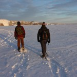 Yellowknife, Snowshoeing, NWT, Canada, Winter, Great Slave Lake, Outdoor Activities.