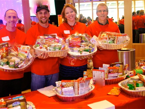 Assembling Holiday Food Baskets for The Food Bank of the Rockies copy