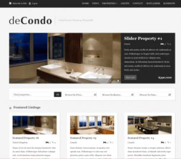 de-condo-real-estate-wordpress-theme from themeshift