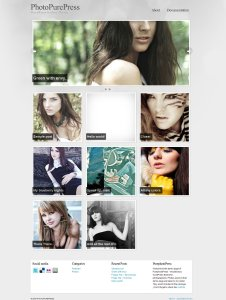 Photo purepress premium wordpress theme for photographers from themeforest