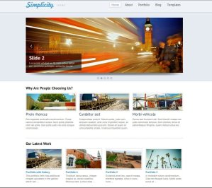simplicity premium WordPress theme for business from woo themes