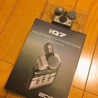 ZOOM iQ7 買いましたよ♪ iPhoneだけで出来る可能性がぐっと広がりました♪