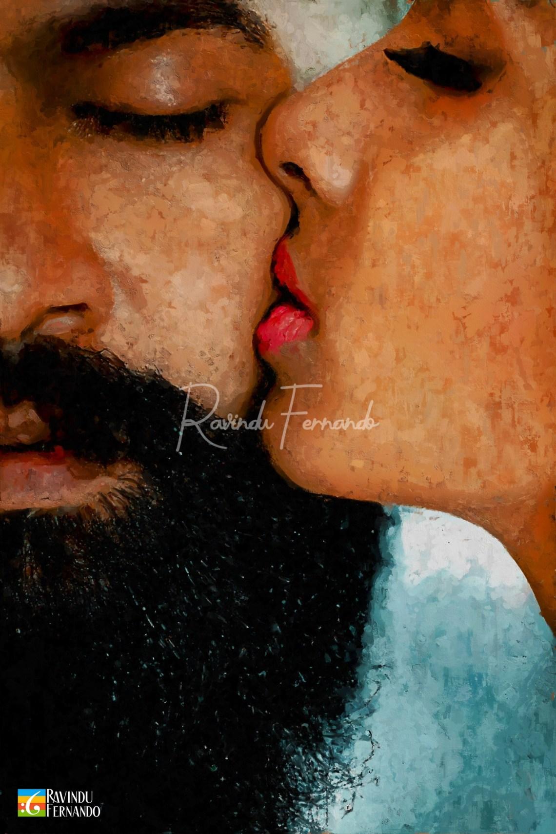 Manoja Fernandez (The Kiss) Digital Painting