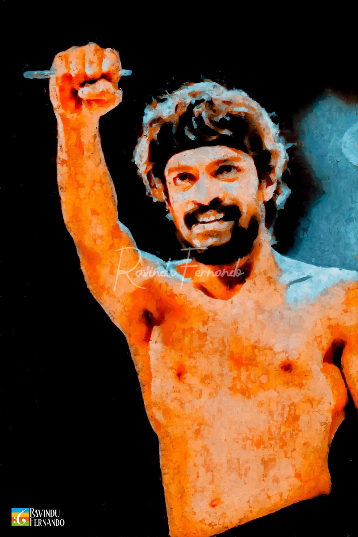 Akalanka Prabhashwara Digital Oil Painting by Ravindu Fernando