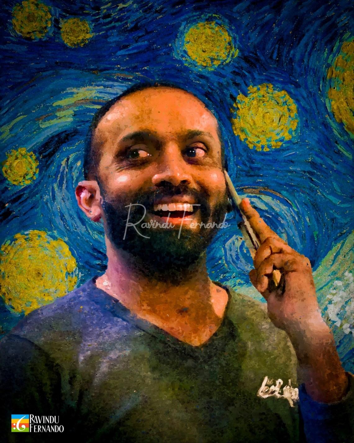 Sasika Ruwan Marasinghe - Digital Oil Painting By Ravindu Fernando