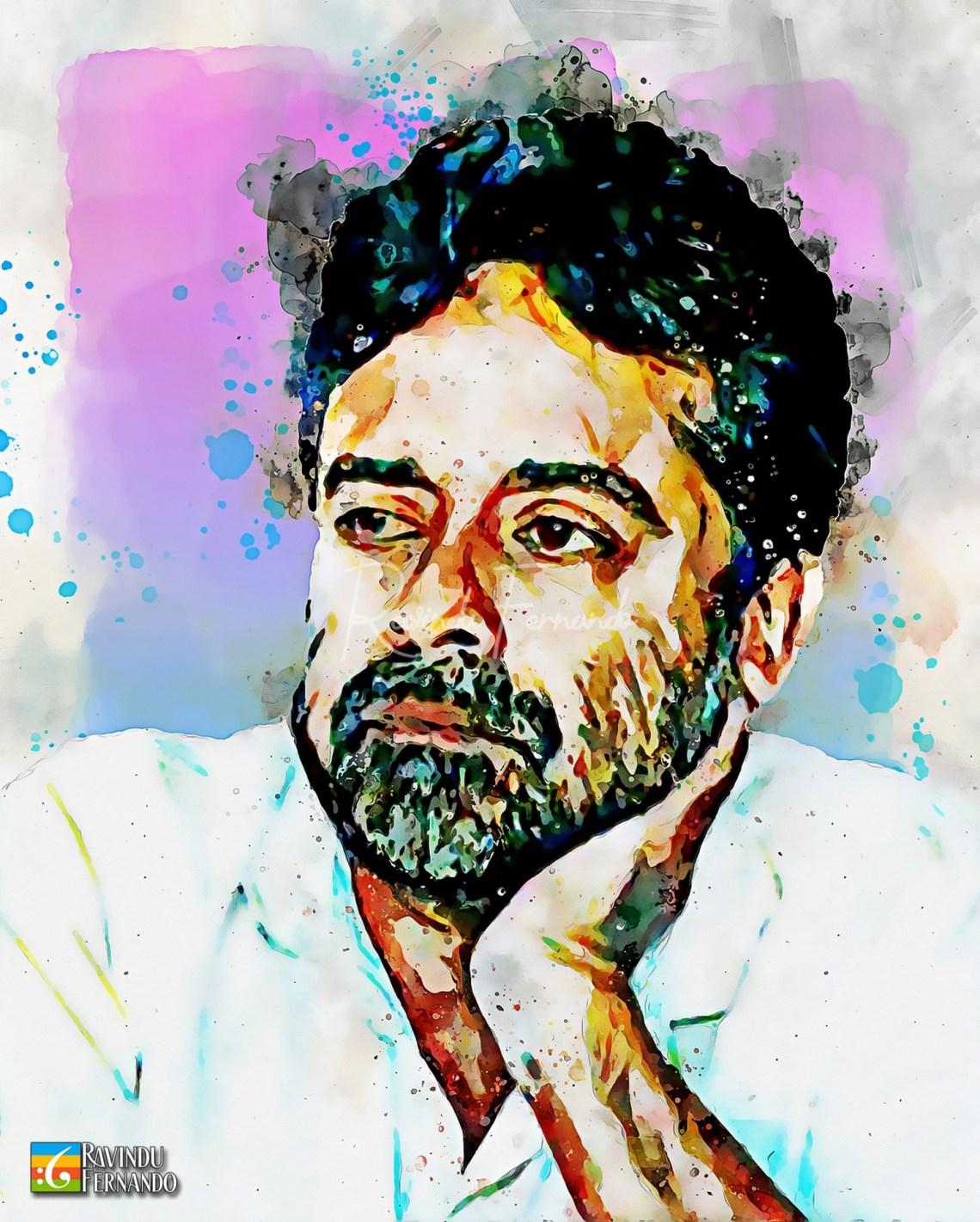 Shyam Fernando - Digital Watercolor Painting
