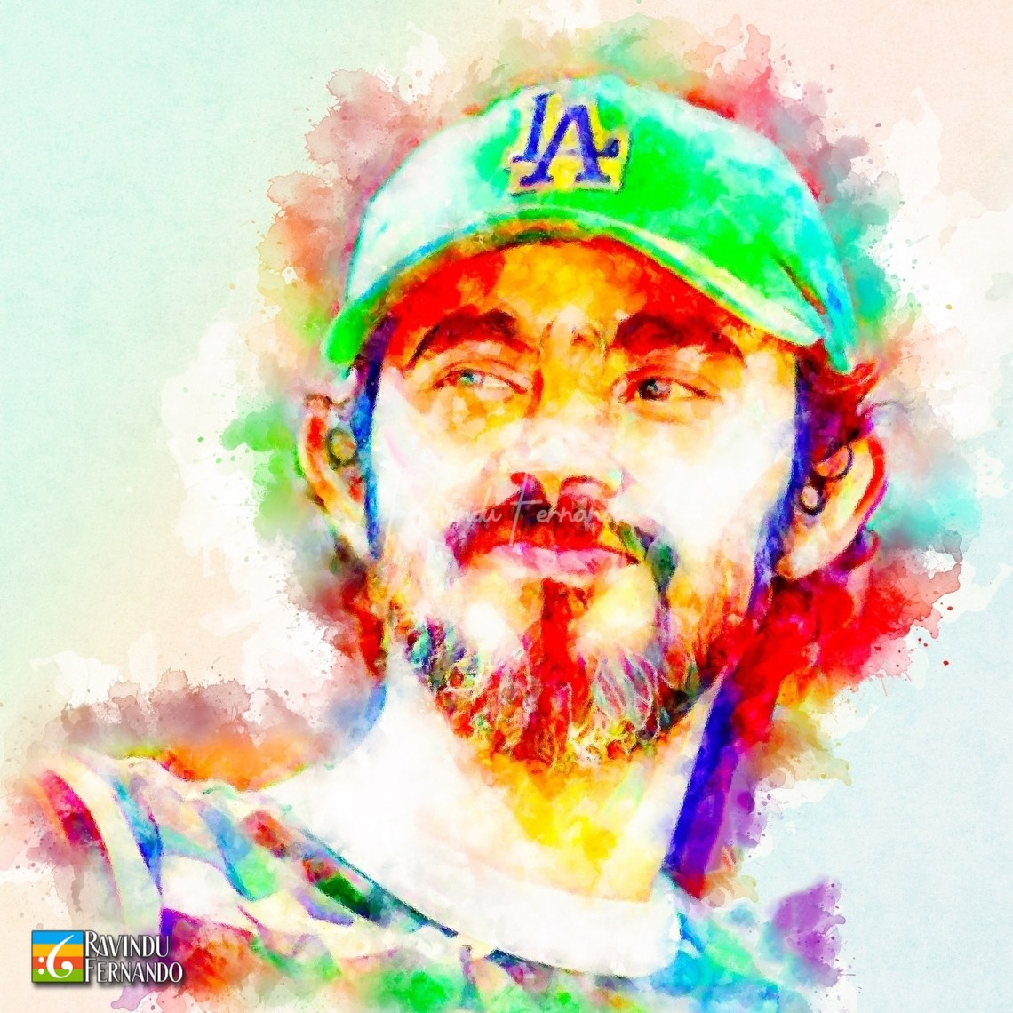 Pasan Senevirathne - Digital Watercolor Painting