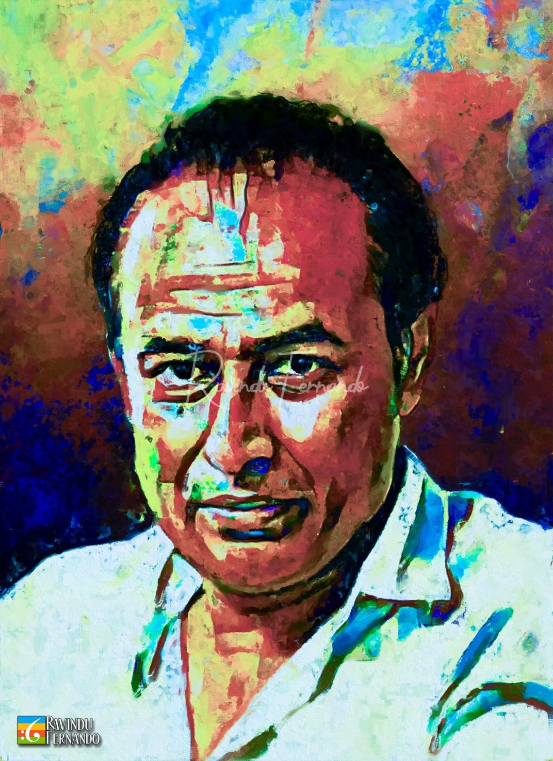 Gamini Fonseka Digital Oil Painting by Ravindu Fernando (2)