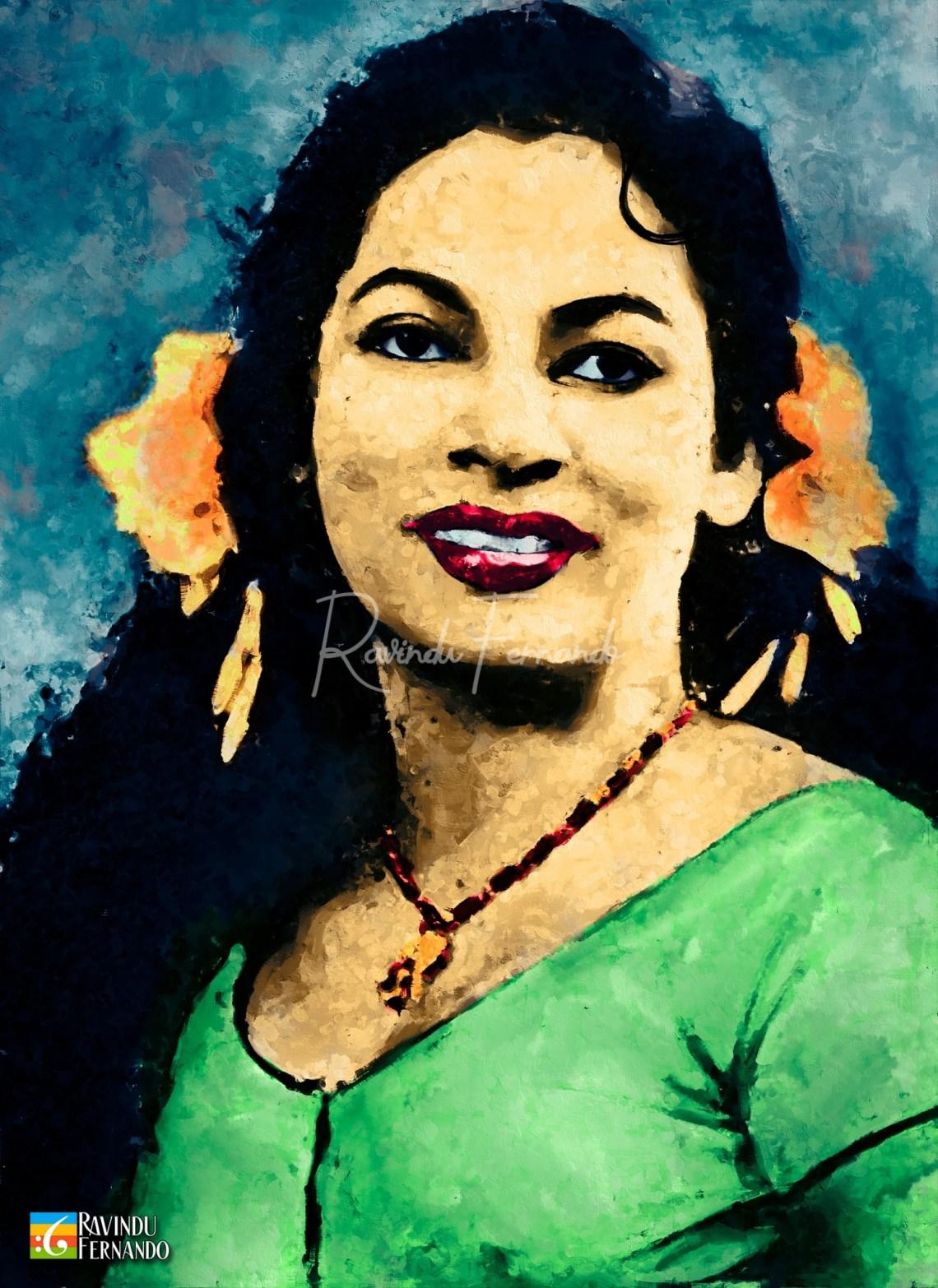 Rukmani Devi - Digital Oil Painting by Ravindu Fernando