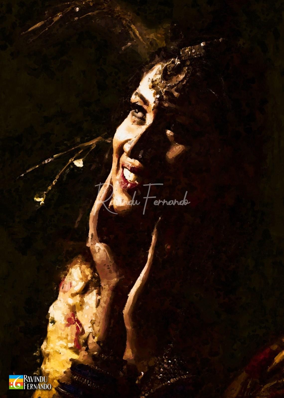 Lasanduni Jayawardhana Digital Oil Painting by Ravindu Fernando