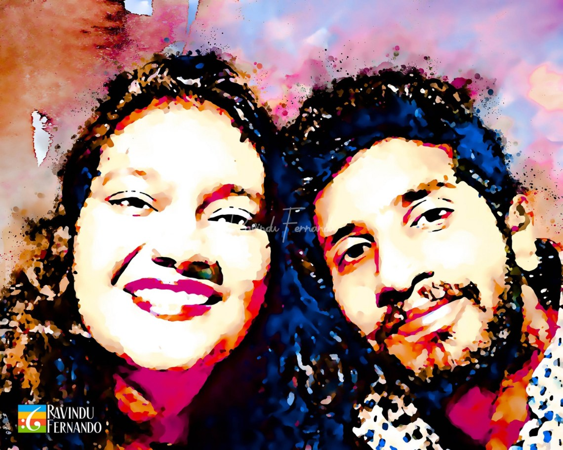 Sandu Rambukwella and Sohani Wijewarnasooriya - Digital Watercolor Painting